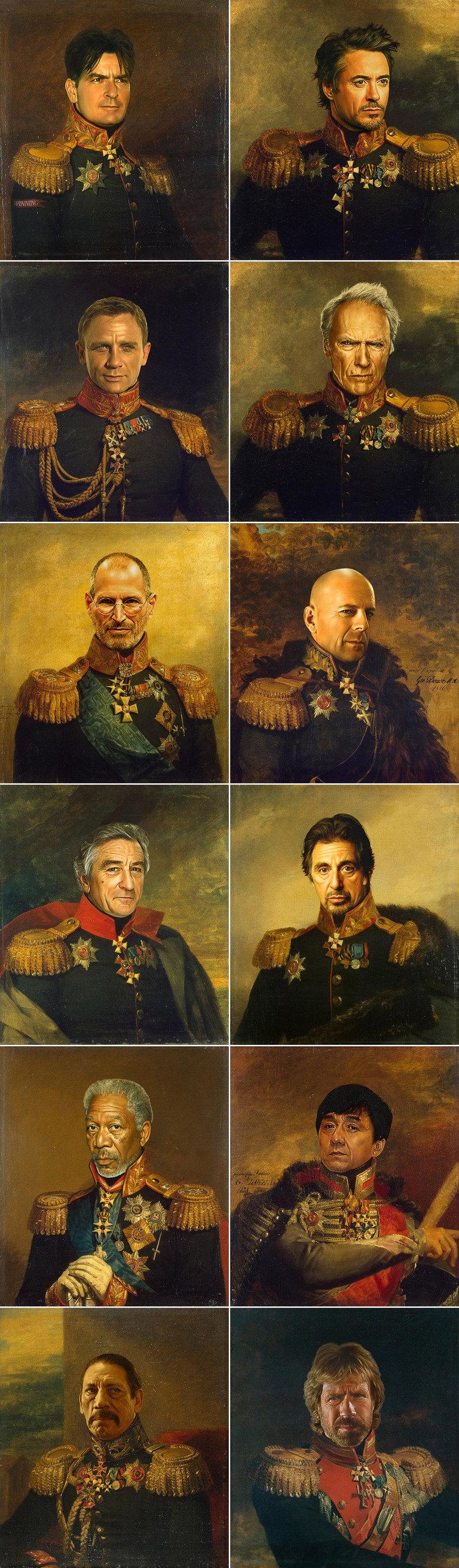 The best Generals ever!. Photoshop art project: celebrities replacing Russian generals.. jobs is a faggot loljk, he WAS a faggot, but then he died XD
