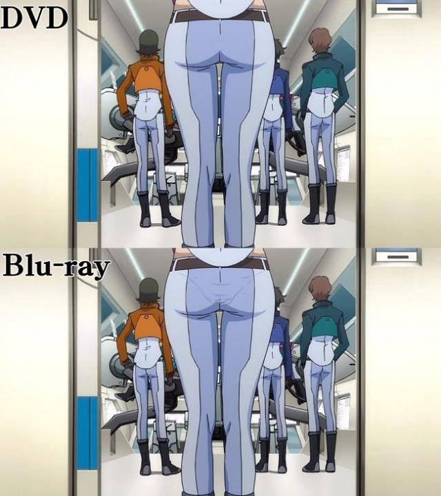 The big difference.. Source: Gundam 00.. Everybody Loves Blu-Raymond