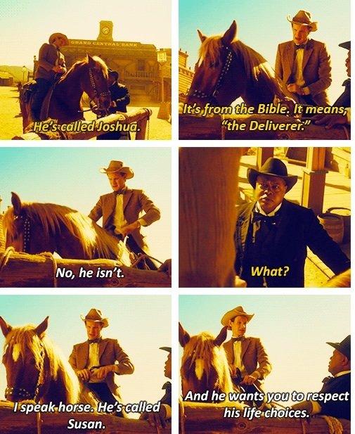 "The Deliverer. . mi' he lloris) f; min in {aspect hi ""ii' titlist' riid. Susan.. haha awesome, transgender horse"