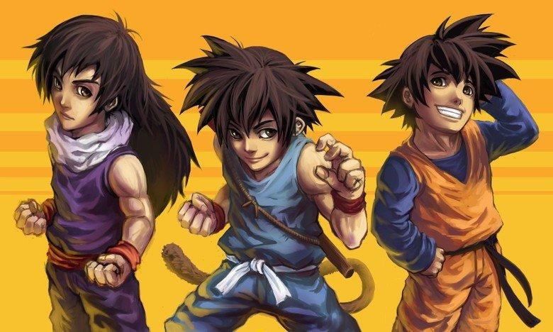The Go team. Goku, Gohan, and Goten....GO GO GO! Like alt-art? Check awesome alt-art out here=>alternateartlives.blogspot.com/.. Did somebody say The Go Team?