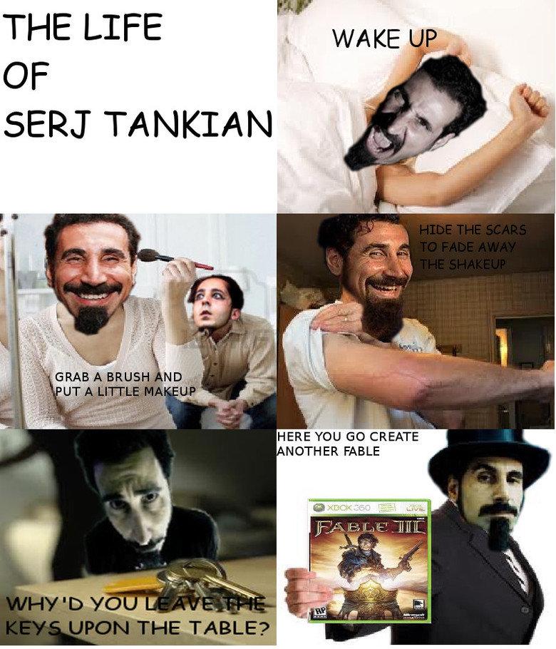 The life of Serj Tankian. In comic sans for maximum butthurt. lillte' LIFE TANKIAN HERE FEW, so EATE NEITHER FABLE SOAD chop suey Serj comic OC