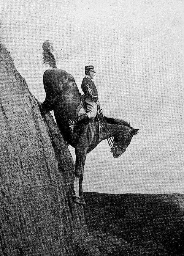 THE man. .. Descending a mountain on horseback in Mount & Blade.