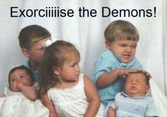 The power of christ compels you. . the Demons!. d-d-d-d-drop the base!
