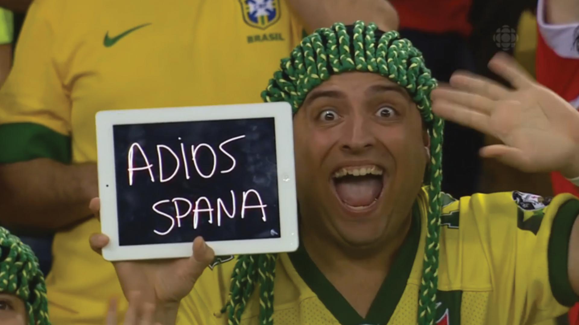 The real MVP of the Spain vs. Chile game. .. E S P A Ñ A...PINCHE CHILENO IGNORANTE ! fifa world cup 2014 spain Chile Adios spana the game