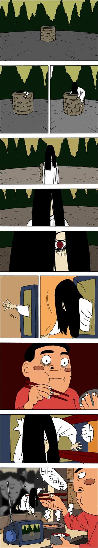 The Ring. Korean Comics.. Reminded me of this korean comics