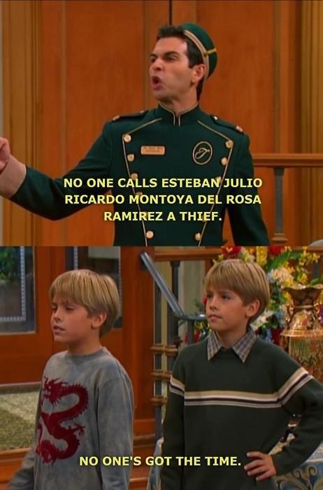 The Suite Life. . no one CELLS RICARDO DEL ROSA RAMIREZ A THIEF. NO ONE' S GOT THE TIME. I u in Jr I ks. qr ass, I