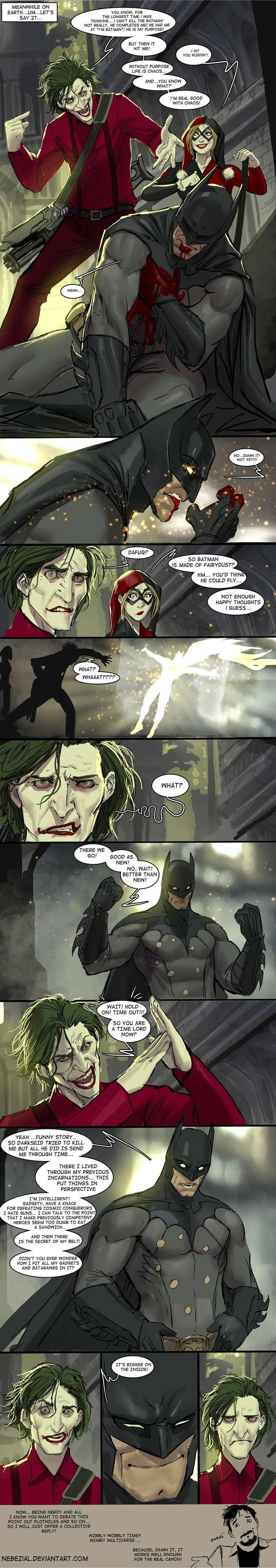 The Truth About Batman. Deds to nebezial on deviantart www.deviantart.com/art/it-s-simple-we-kill-the-doctor-no-wait-batman-420747605. mu KNOW, FOR THE LONGEST  batman Doctor Who