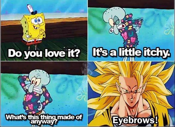 "The Truth Behind the ""Eyelash"" Sweater. Not OC... ...Eyebrows. dbz"