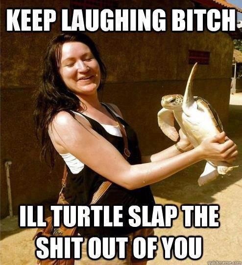 The Turtle is like the cake. It isn't a lie. Phu lit tii. U Cake is the trut