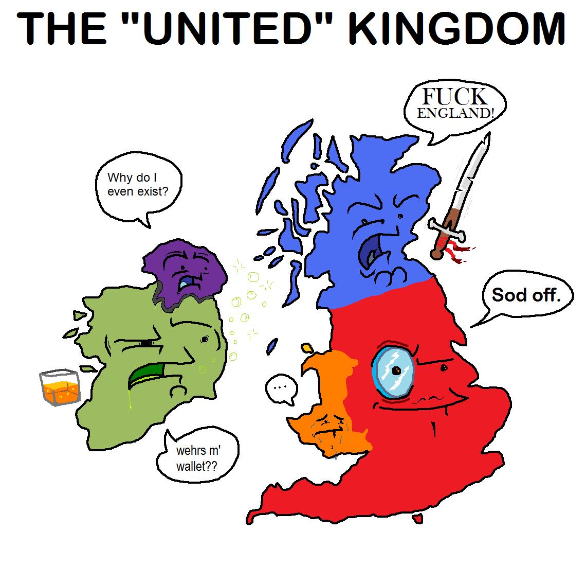"""The U.K. . THE """"UNITED"""" 'i(. u wot skotland"""