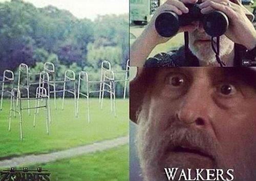 The walking walkers. .