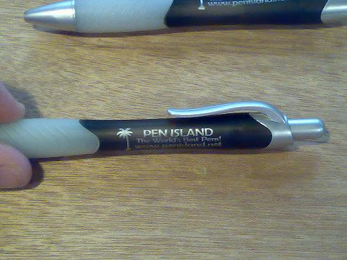 the world's best pen. .. i dunt get it pen island lol f