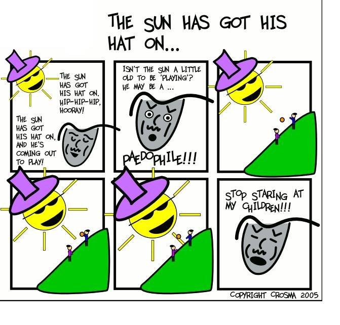The sun has got his hat on :D. Damn sun.