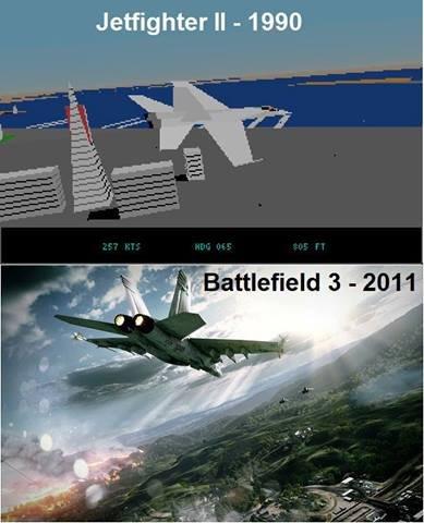 Then & now. . Jetfighter II - 1990. minecraft now