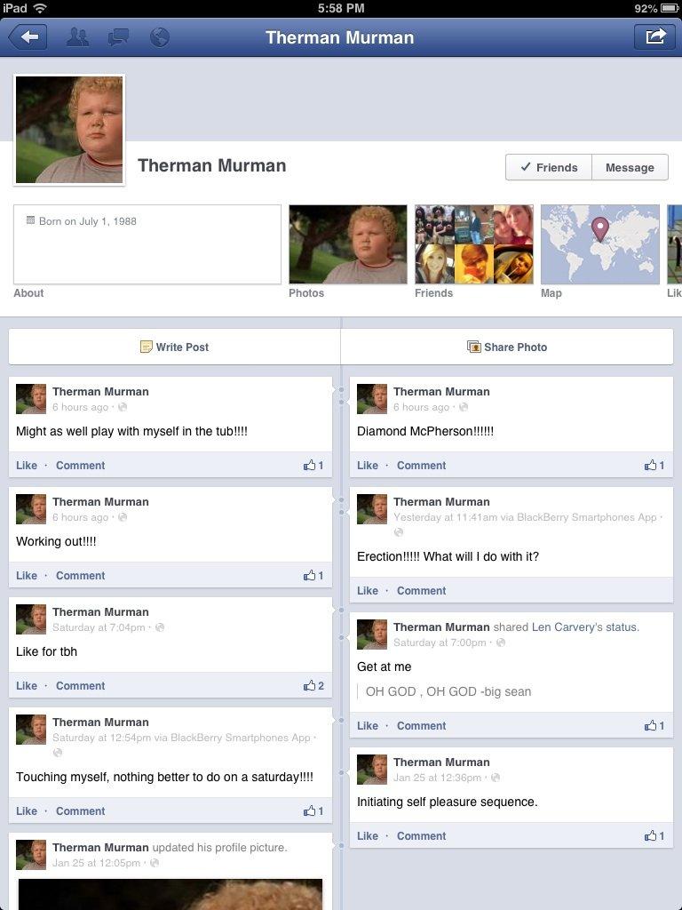 Therman Herman. I love you.. Ill MII PM Theomen ' ' Therman Merman . I Friends . Message . About Lik E) Write Fest Share Phote Theomen Mermen ' . Theomen Mermen