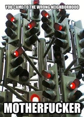 This is how I feel on the way home. . asi: L l. Red means Floor it right...?