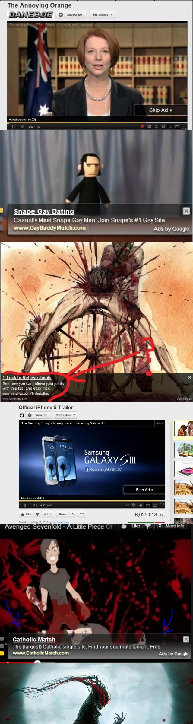 Those advertisements. .
