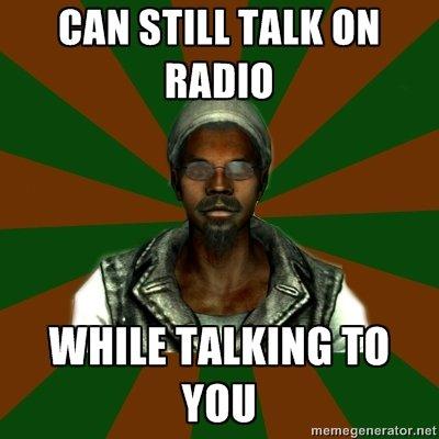 ThreeDog. Awooooooo. MAIO. Because no radio station pre-records its segments... no tags