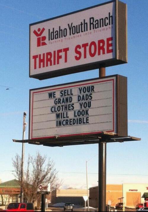 thrift shop. .