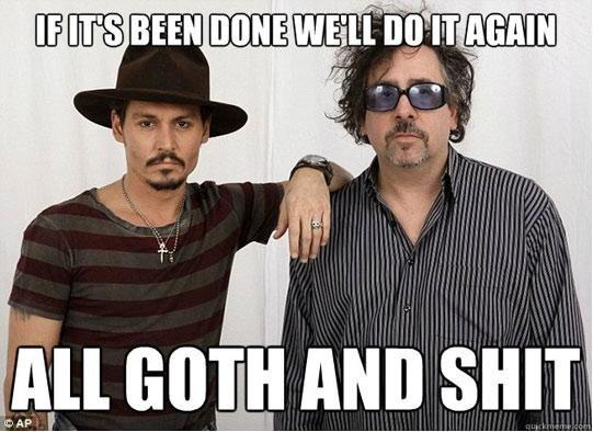 Tim Burton and Johnny Depp's Philosophy. . nun an. music by Danny Elfman