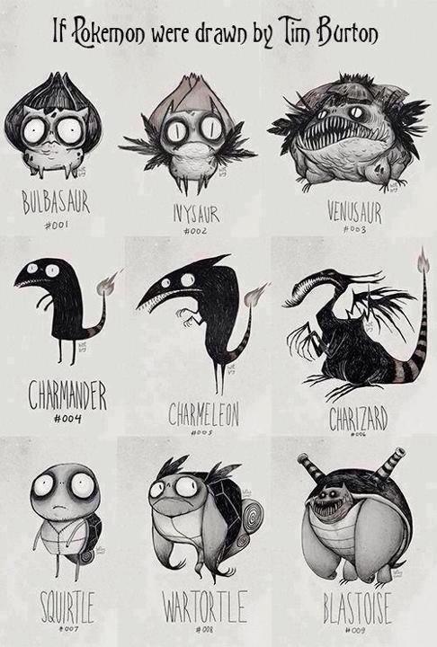 Tim Burton's Pokemon. . If '&HEH} ) were drawn Tii,