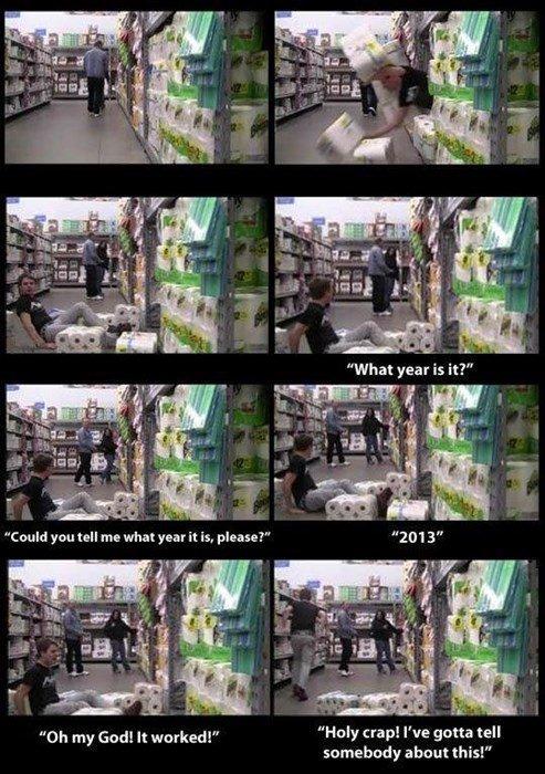"""Time travel. . Oh my God! It """"Haly crap! I' gotta tell somebody """""""