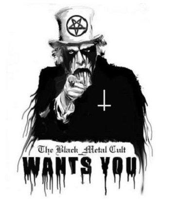 title. .. >mfw black metal cult.
