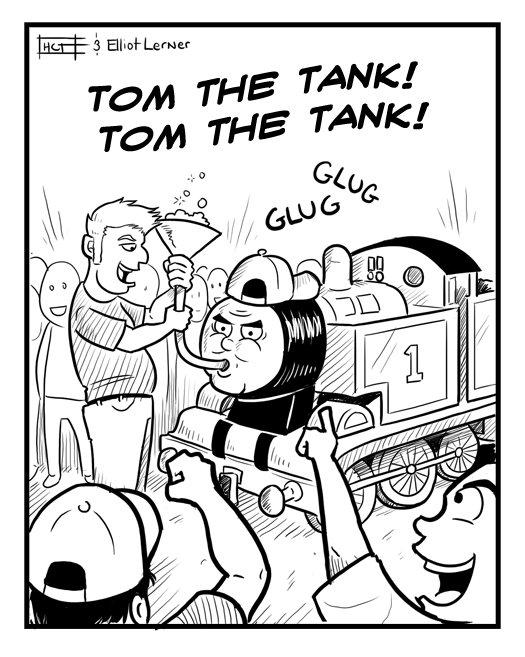 Tom the tank. i luv trainz.. wait... is he a train or a tank?