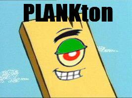 Ton. . fun plank ton sponge bob Square pants
