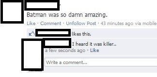 too soon?. BATMAN.