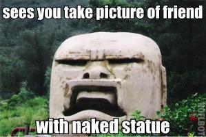 tourist-oblivious statue. . FIJI! HIKE ' B tta