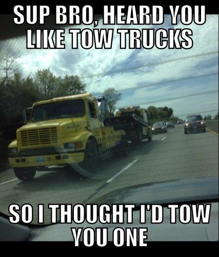 Tow Truck Fail. .