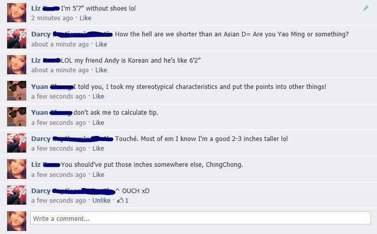Trade off?. Facebook antics..