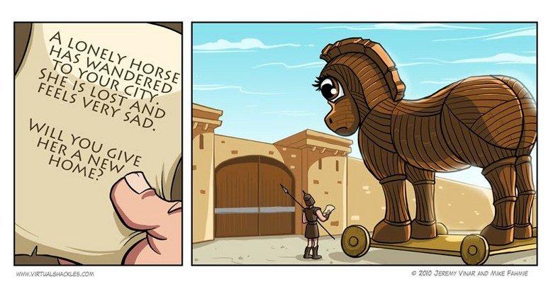 Trojan Horse Farmville. .. Farm Ville in the ol' times