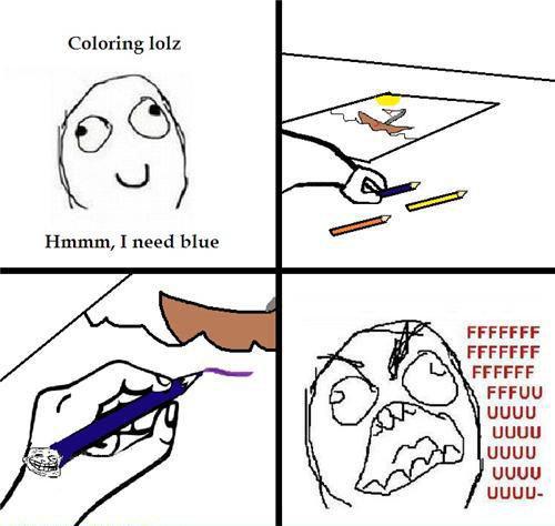 Troll Crayon..... hehe. Coloring lolz Hamm, I need blue FFCCFF uguu uguu uguu uguu UGUU-. MFW 90% of FJ is colorblind.