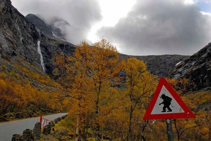 Troll in Norway. .