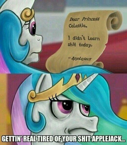 Trolljack?. . rror. Dear Princess Celestia. Today I learned you, I can eat all these apples.