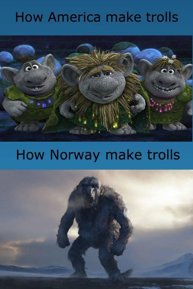 Trolls. .. how America really makes trolls