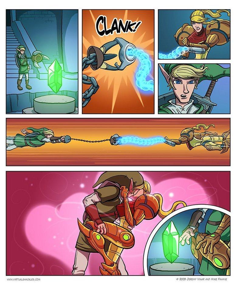 True Love. .. epic nerd win :D wonder if she can handle his master sword?