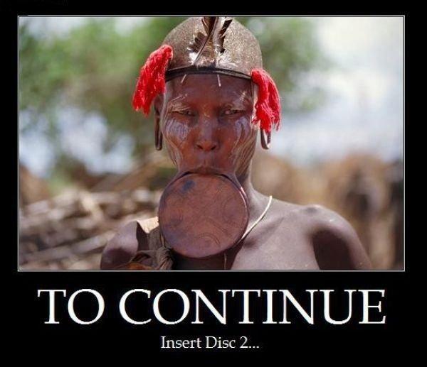 true gamer. . Insert Disc 2...