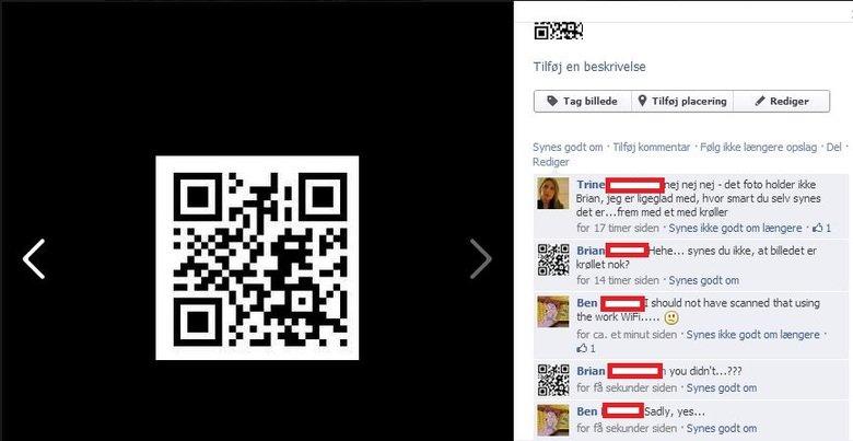Tubgirl QR-code. So I made a QR-code that leads to tubgirl, and made it my facebook profile photo. r Tag . t, E Tiff_ iij !alalala if Brian, jag Alt ad , Mr, 't