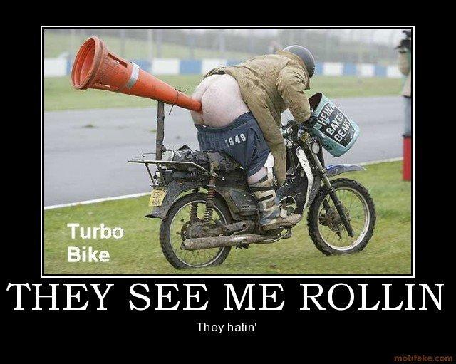 TURBO BIKE! away?. fart powered. They hatin' til. me gusta Turbo bike Beans Fart