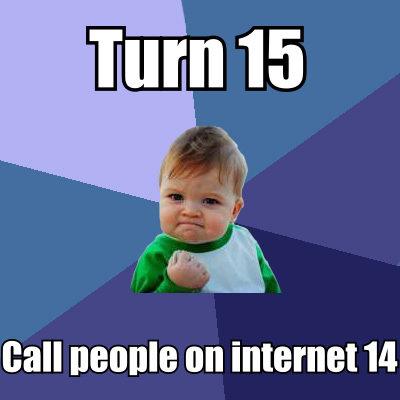 "Turn 14. yeah.. J At FCI"" I Ala can IMI 14 internet success success kid meme"