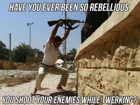 Twerrorists. .. Imagine twerking to the firing rate of your weapon.