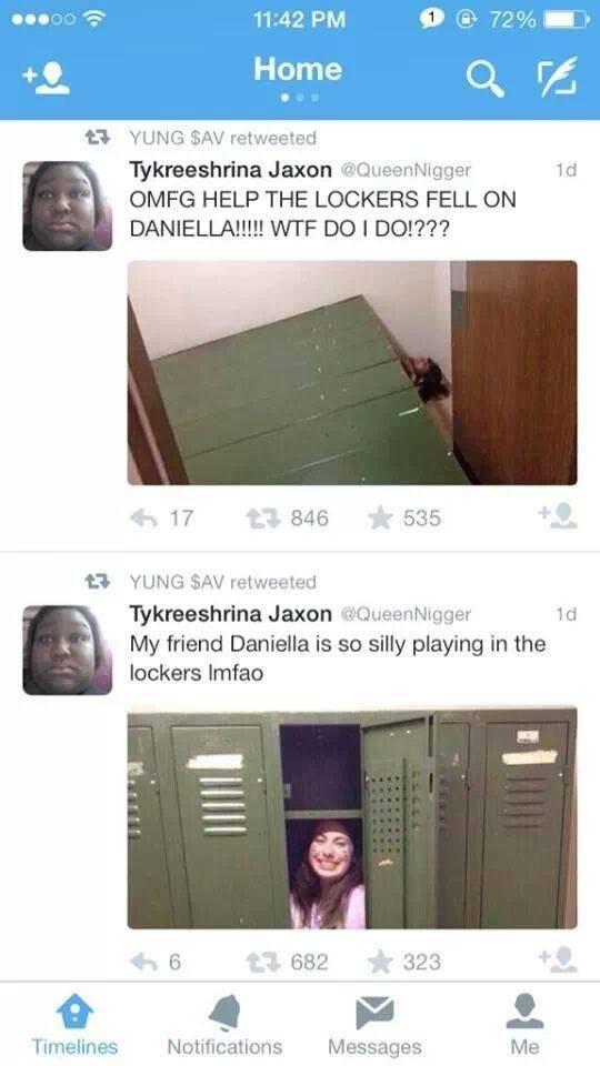 Tykreeshrinas problems. . YUNG?, AAV retweeted OMFG HELP THE LOCKE'S FELL ON 17 . 846 535 ACT 'Y' UNG SAV 'eisia. ete. d Jaxon viy(, hie,, sern. T. ger' My frie