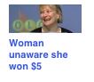 typical. . Woman unaware aha wan 55 woman unaware she won five dollars wine and cracker