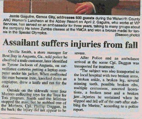 """Um, I fell. . multiple , asserted may ttntt, , Jmcg"""" be whim In"""