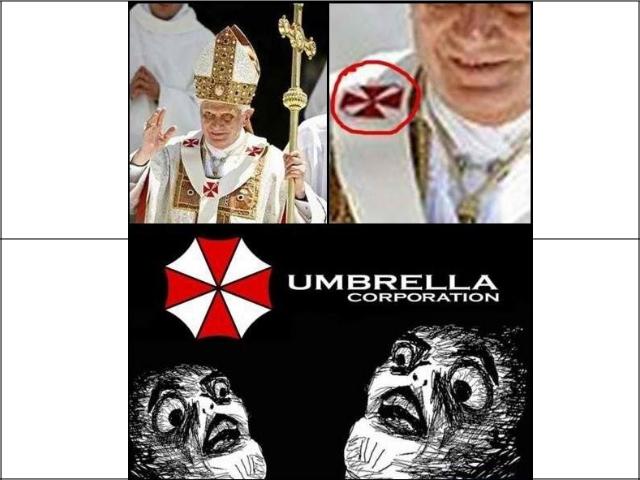 "Umbrella Corp.. ""Obedience Breeds Discipline, Discipline Breeds Unity, Unity Breeds Power, Power Is Life.""."
