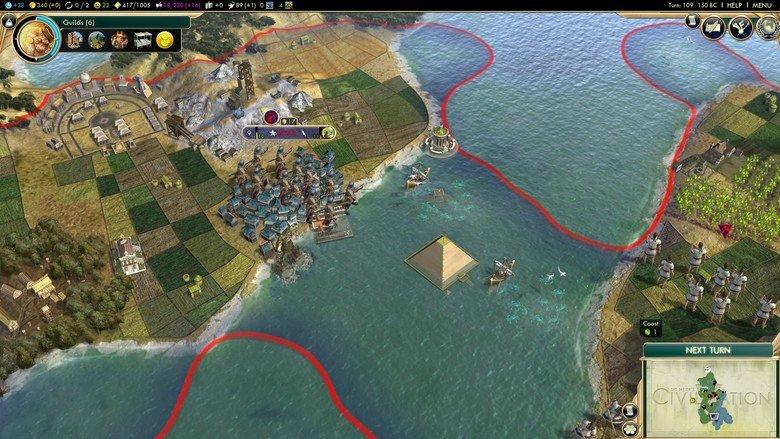 Unda da sea. Hmm where shall we put this massive stone pyramid?. I HELP I MENU. are you.... playing as worst korea? Civ 5