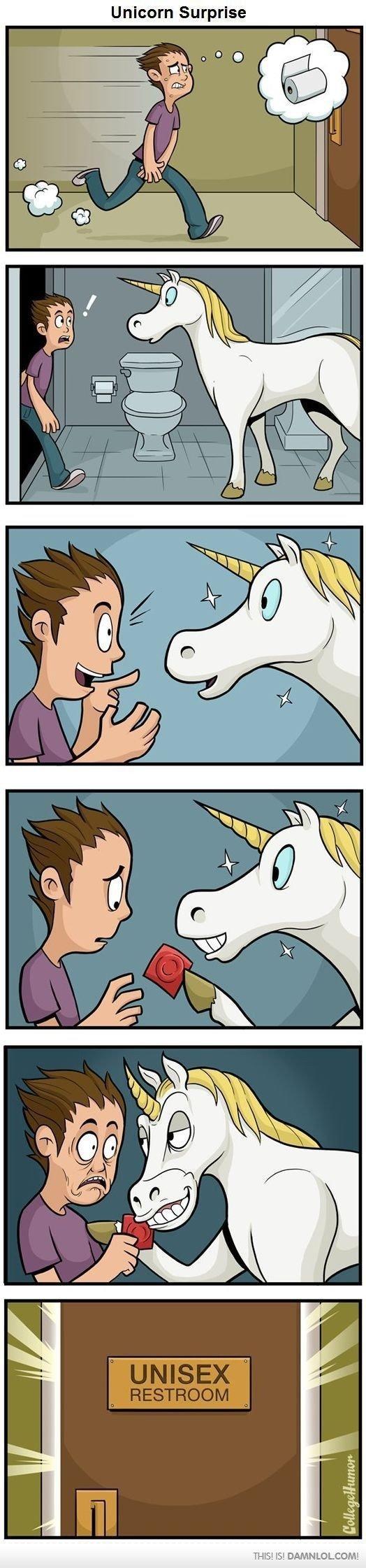 Unicorn Surprise. . Unicorn Surprise THIS! DAMN LILIUM!. Why do you need a condom if all unicorns are male?